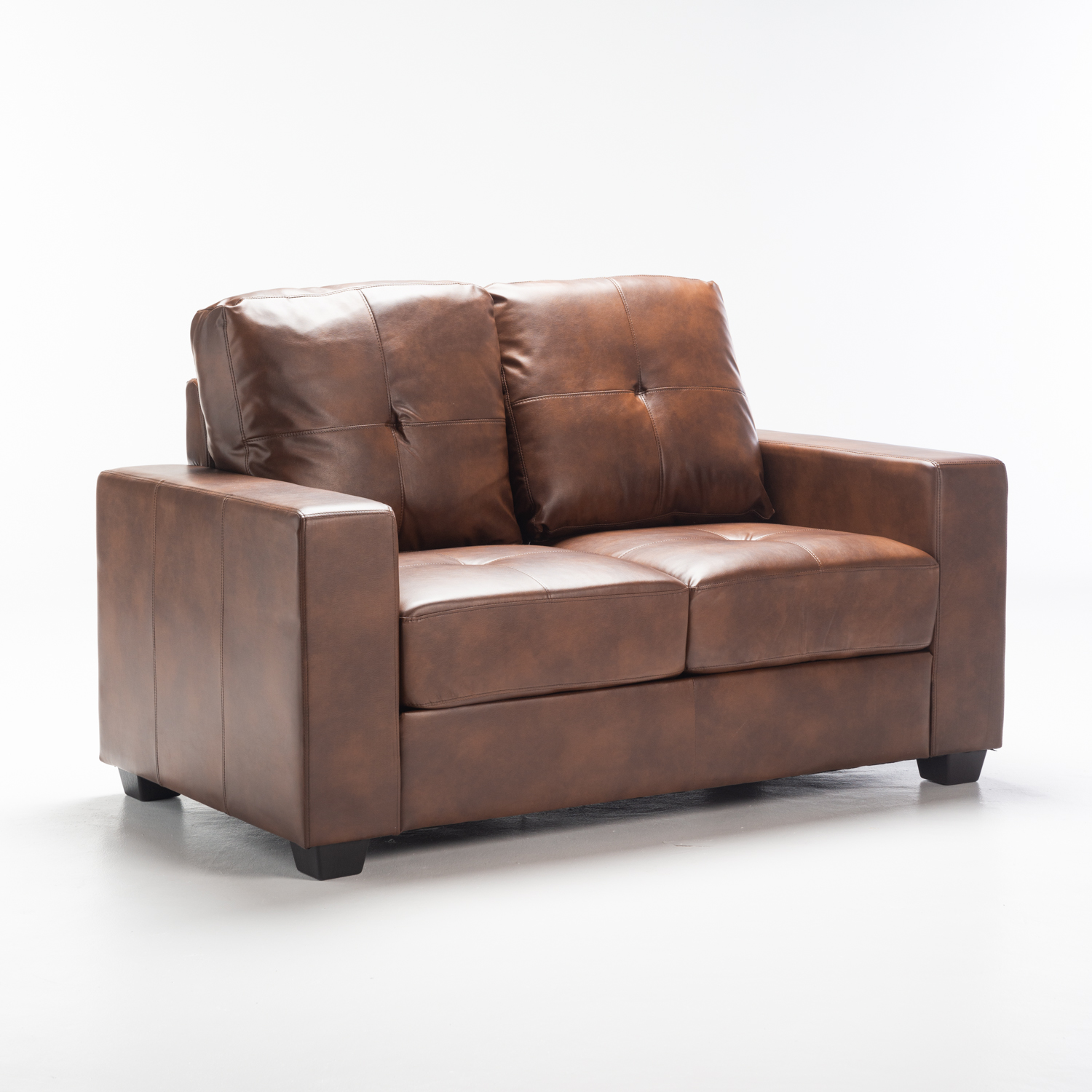 Astra Leather Touch 2 Seater - Walnut