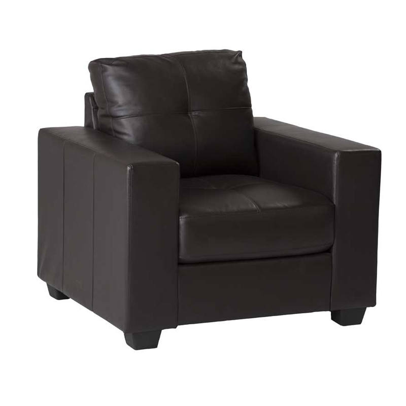 Astra Leather Touch Armchair - Brown
