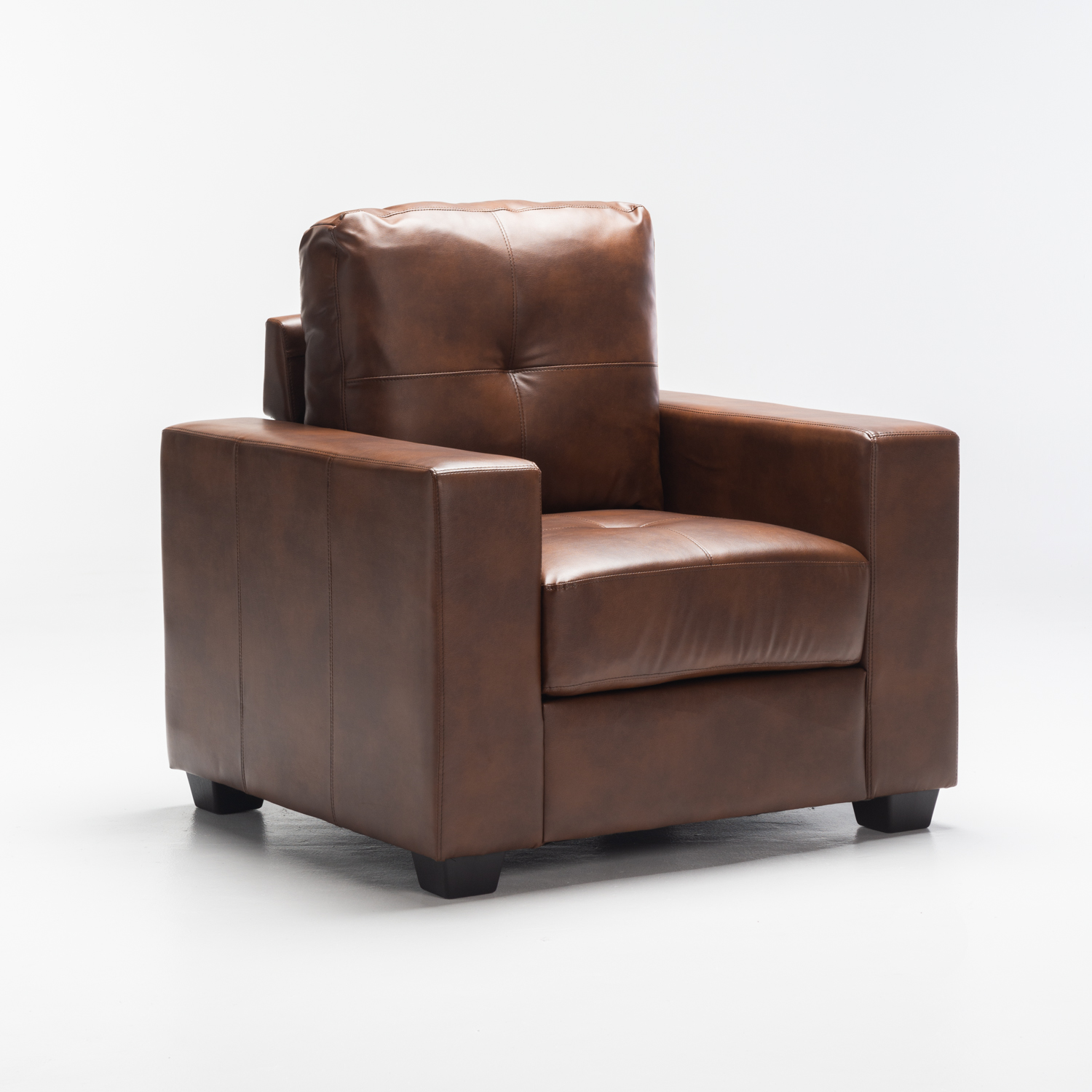 ASTRA LEATHER TOUCH ARMCHAIR - WALNUT
