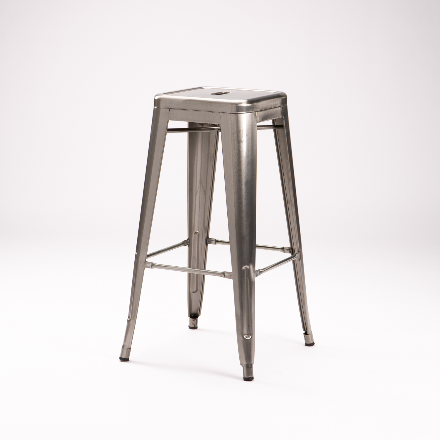 Tolix Barstool - Brushed Metal