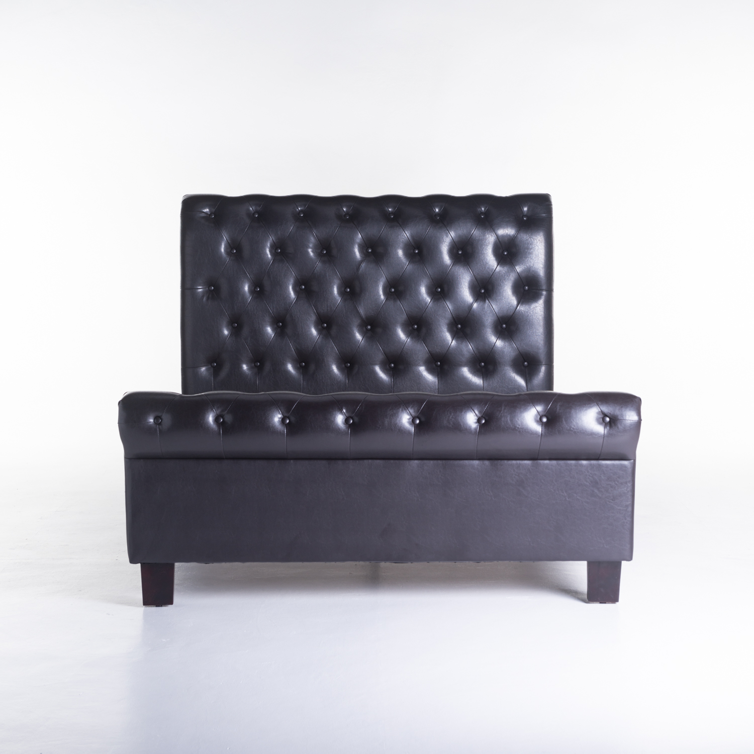 CHESTERFIELD LEATHER TOUCH BED
