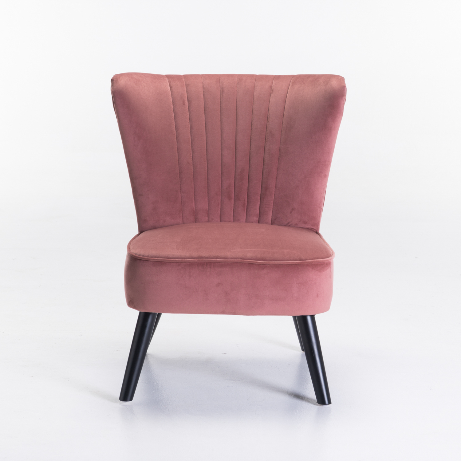 SHELL VELVET CHAIR - BLUSH