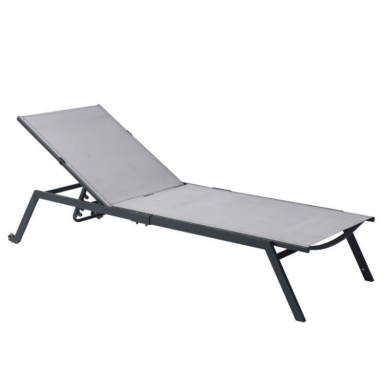 Clifton Sun Lounger - Grey Stripe
