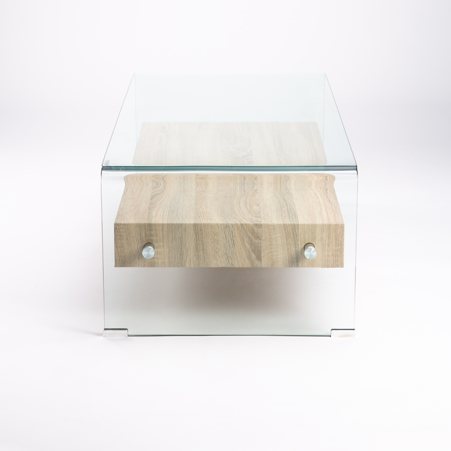 Tempered Glass Coffee Table With Drawers: Decofurn Furniture :: IVY 12MM TEMP GLASS COFFEE TABLE