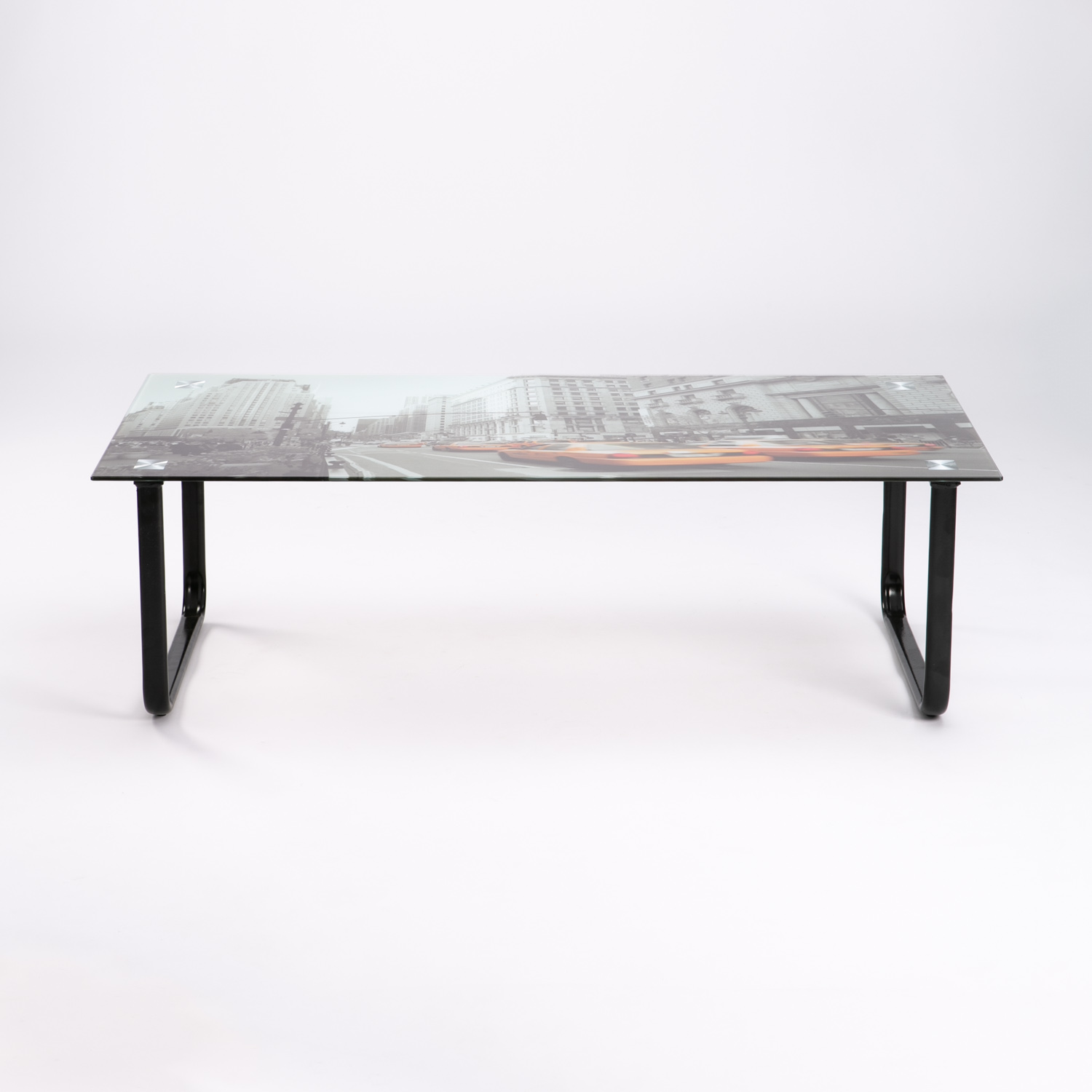 Decofurn Furniture New York 105x55cm Tempered Glass Coffee Table