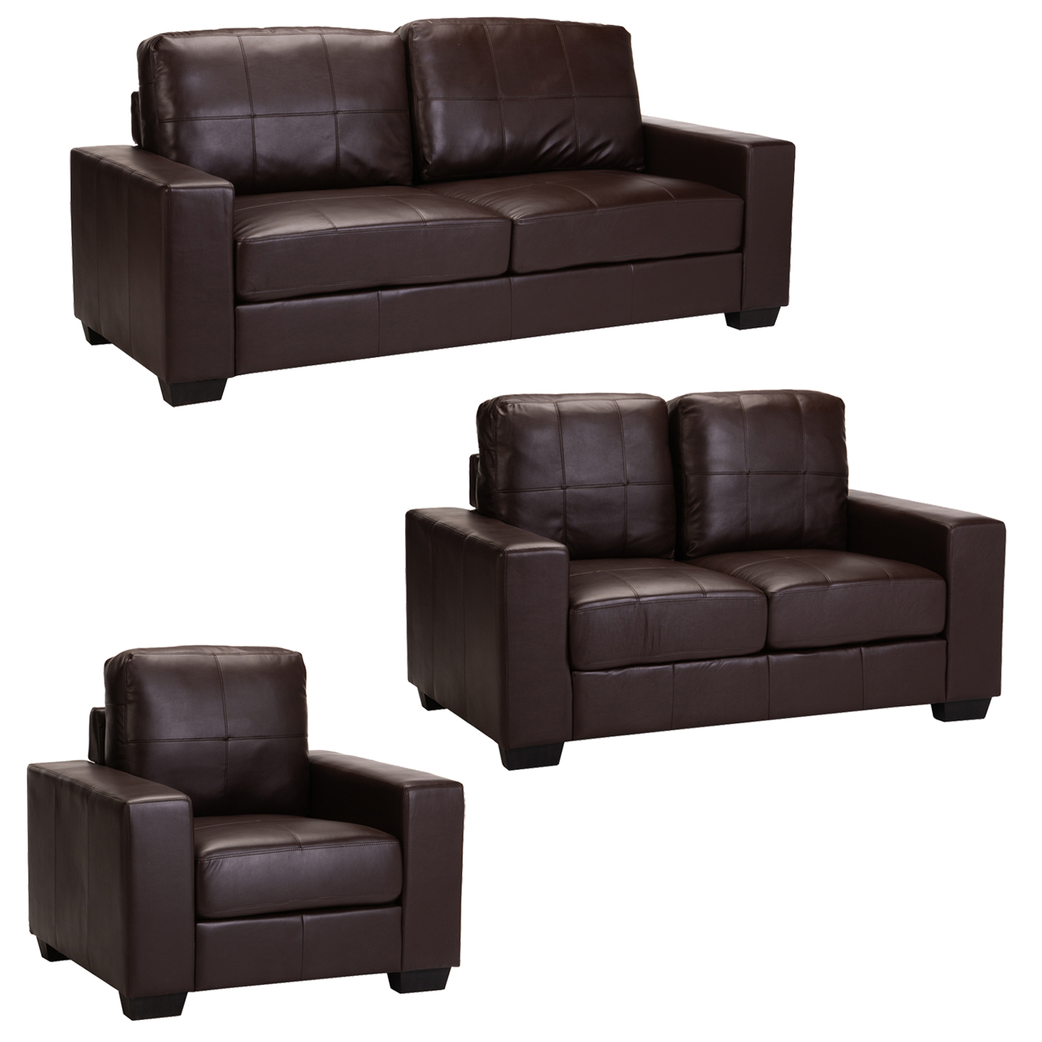 GINA 3PC SET BROWN