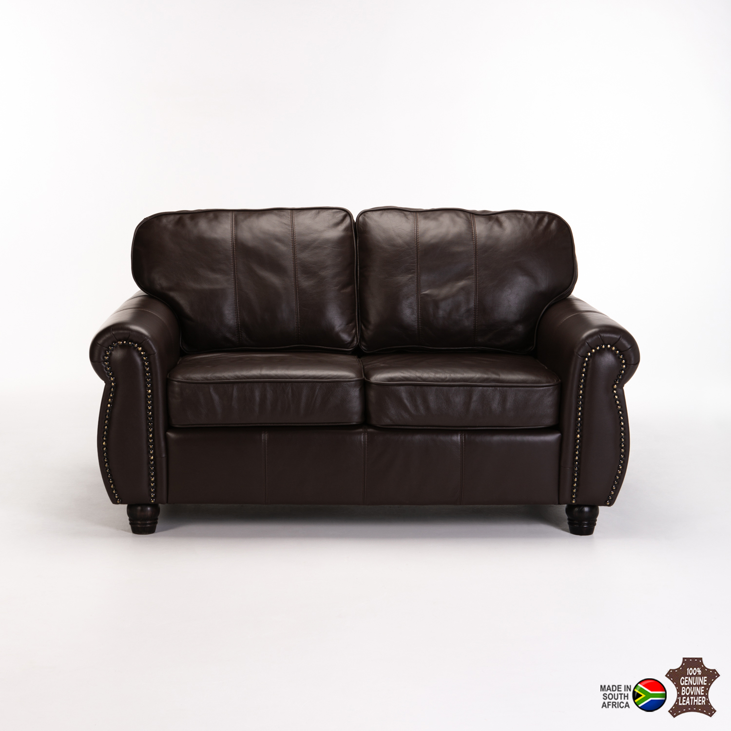 Terrific Decofurn Furniture Kingsley Genuine Leather 2 Seater Lamtechconsult Wood Chair Design Ideas Lamtechconsultcom