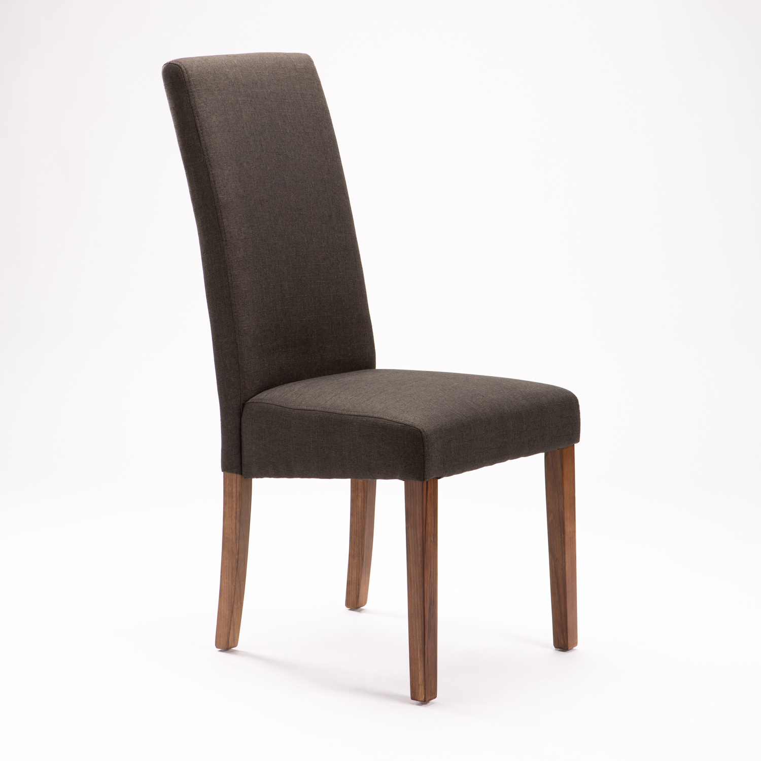 Earl Deluxe Fabric Dining Chair - Charcoal/wl Leg