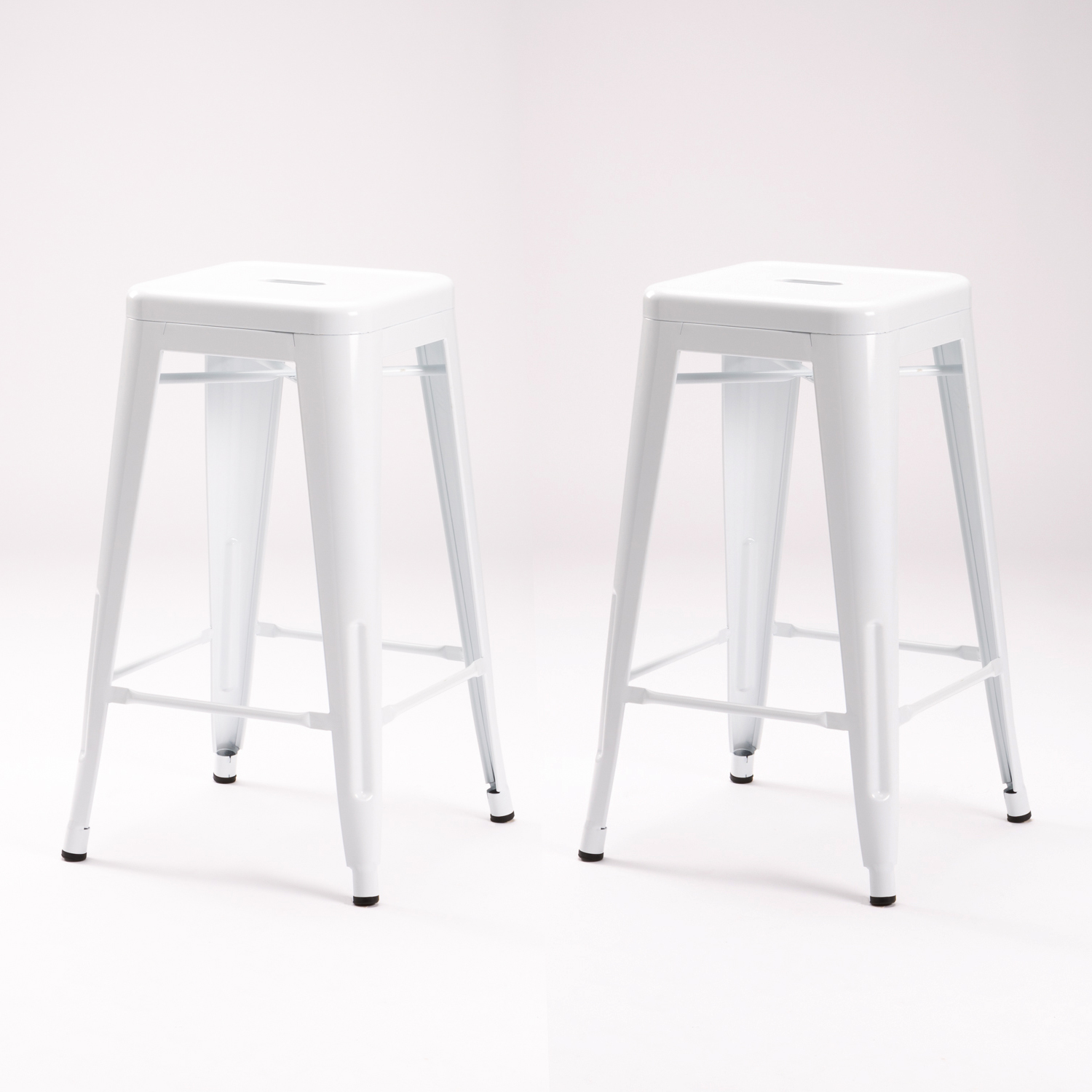 2 x TOLIX KITCHEN STOOL WHITE
