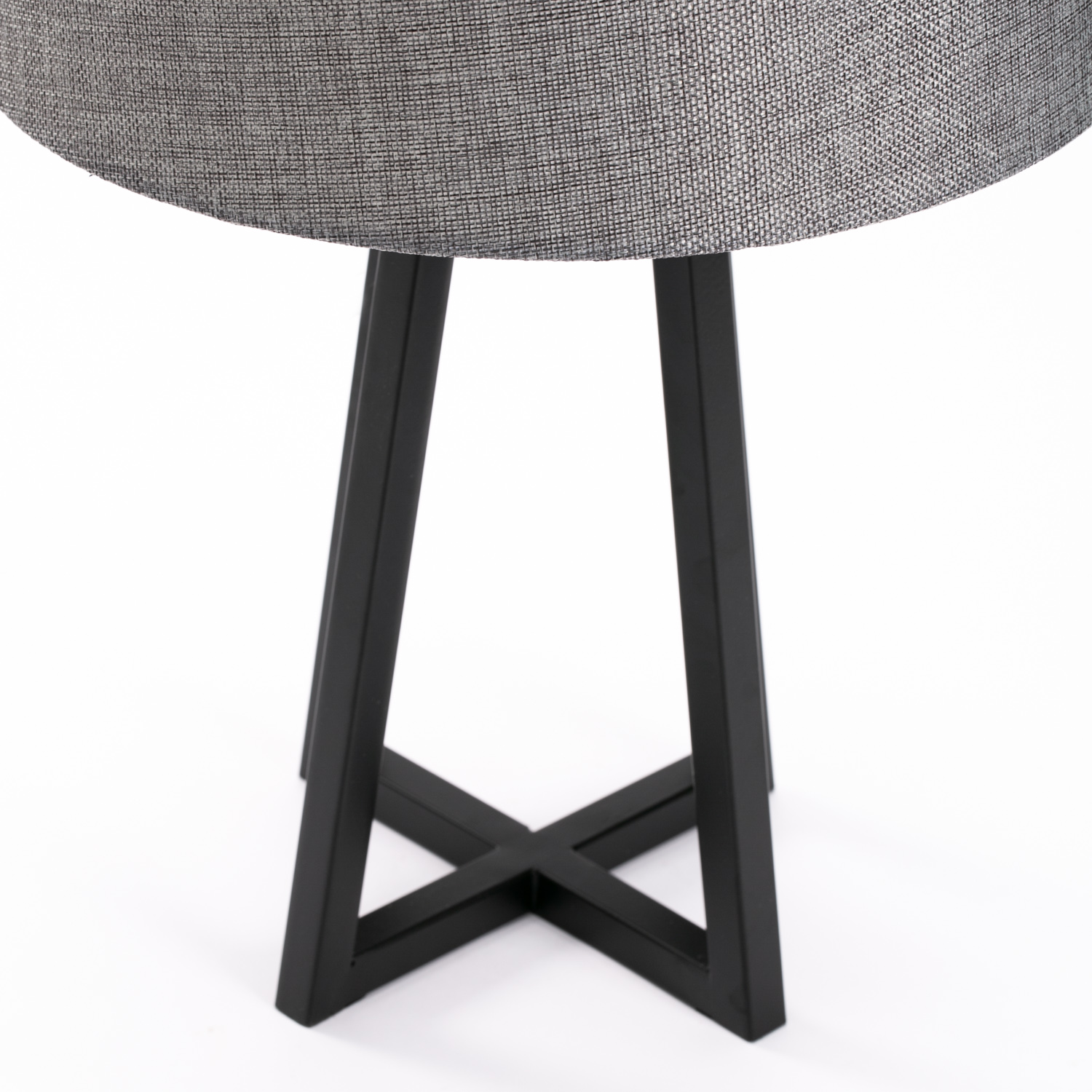 Decofurn Furniture Lamp Table Black Metal Base Grey
