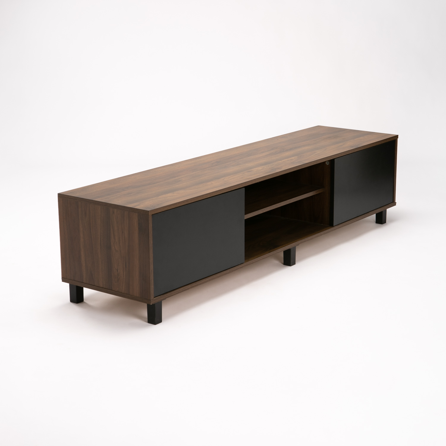 Ally 2 Door Tv/plasma Unit - Walnut/black