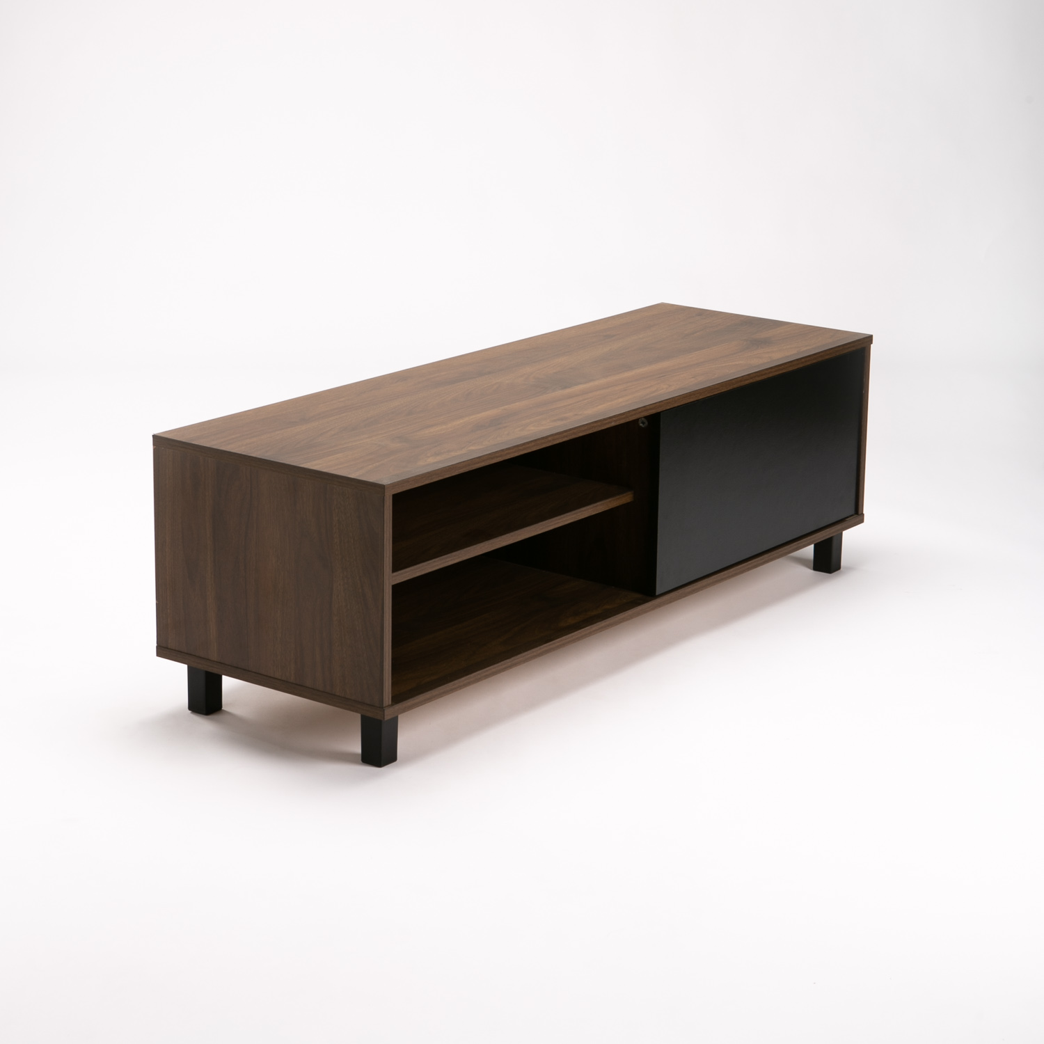 Ally 1 Door Tv/plasma Unit - Walnut/black