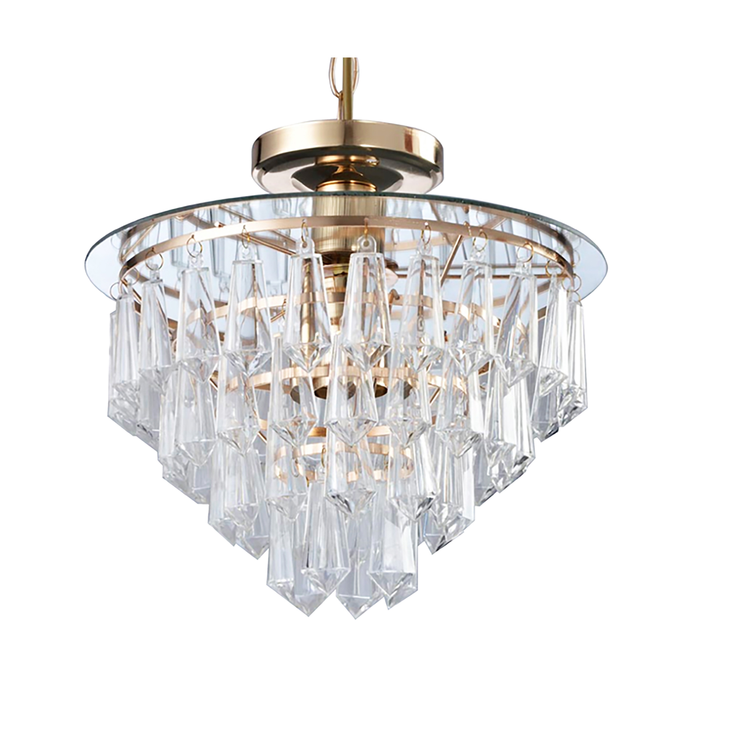 CEILING LIGHT-ACRYLIC TIER CHANDELIER