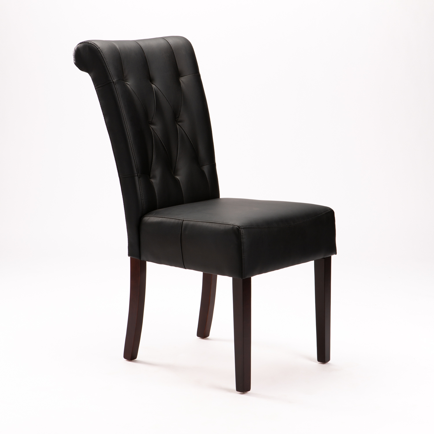 CHESTERFIELD LEATHER TOUCH DINING CHAIR