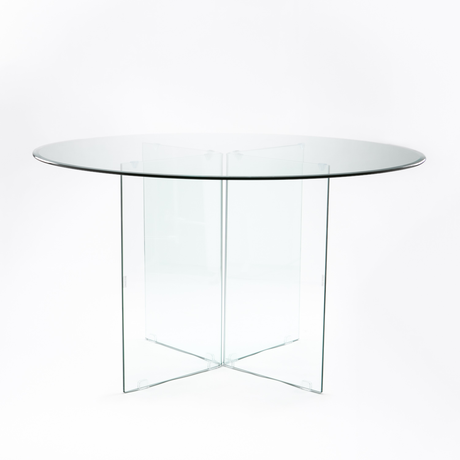 RUBY 137cm ROUND TEMPERED GLASS DINING TABLE
