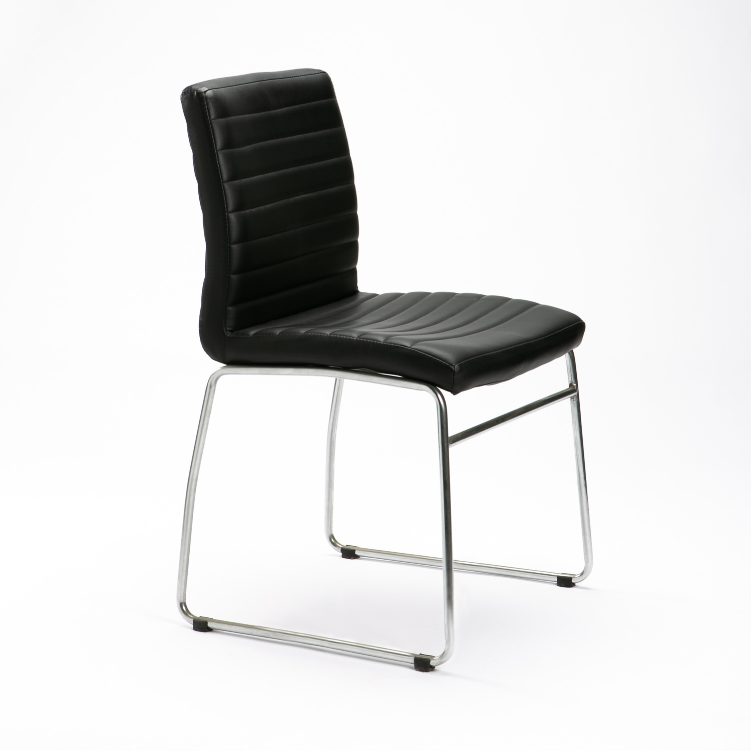 MIA LEATHER TOUCH CHROME CHAIR