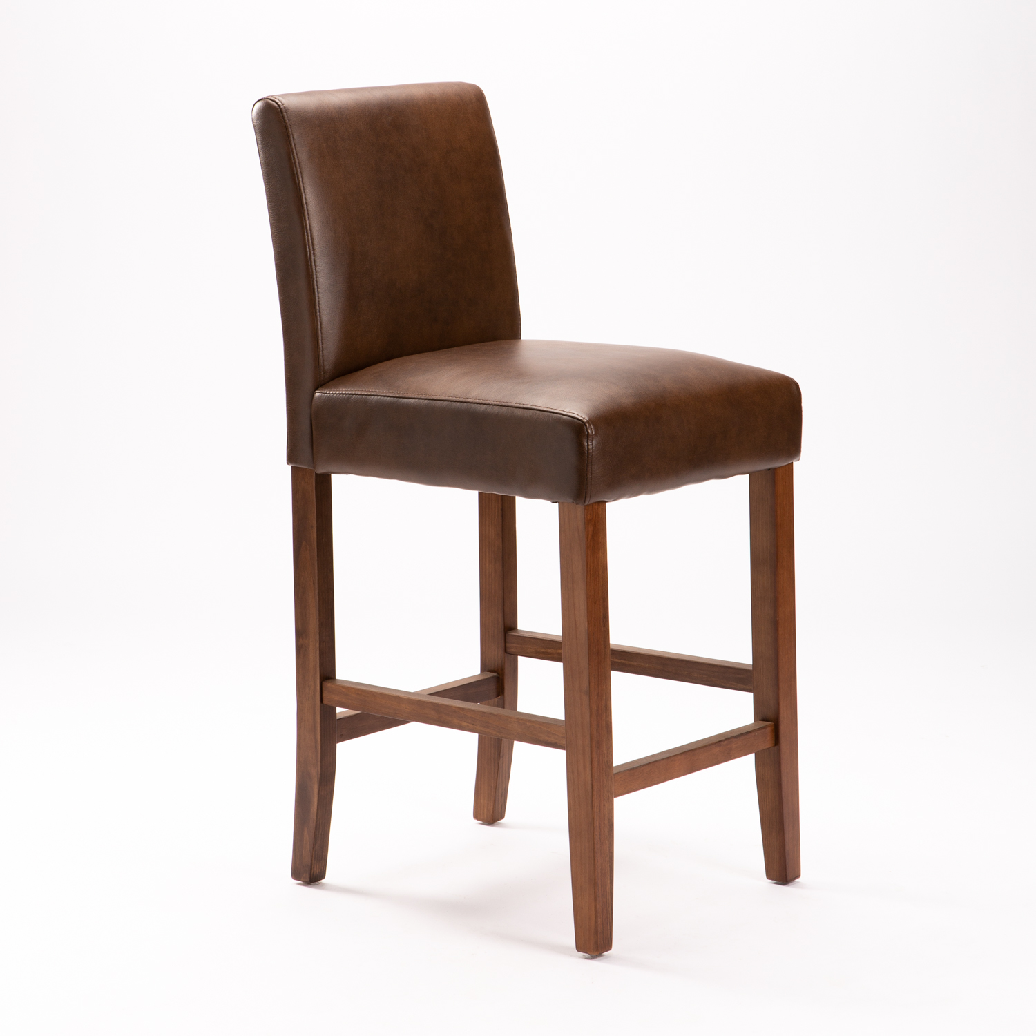 TOM LEATHER TOUCH KITCHEN STOOL