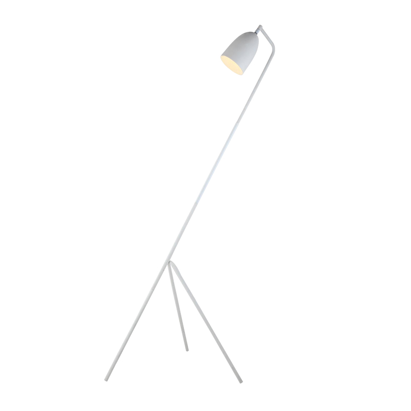 LAMP FLOOR-VOGUE WHITE METAL 158cm H