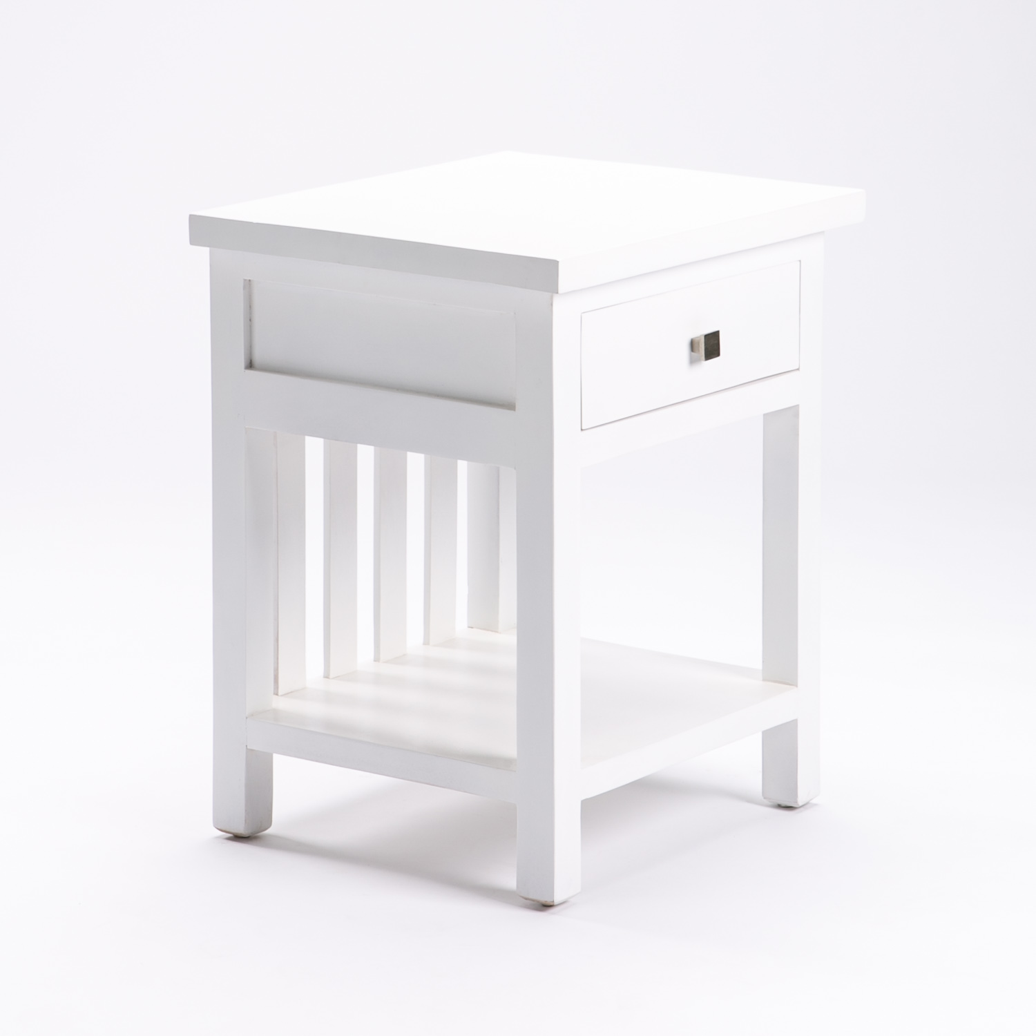 DINA WHITE 1 DRAWER PEDESTAL