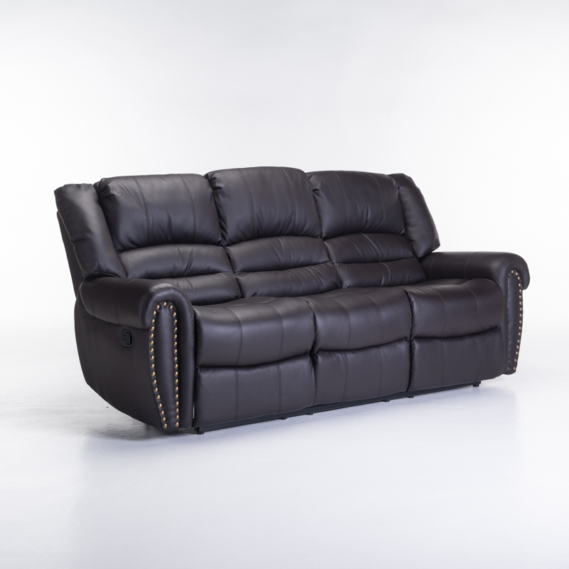 GINO BONDED LEATHER UPPER 3 SEATER RECLINER