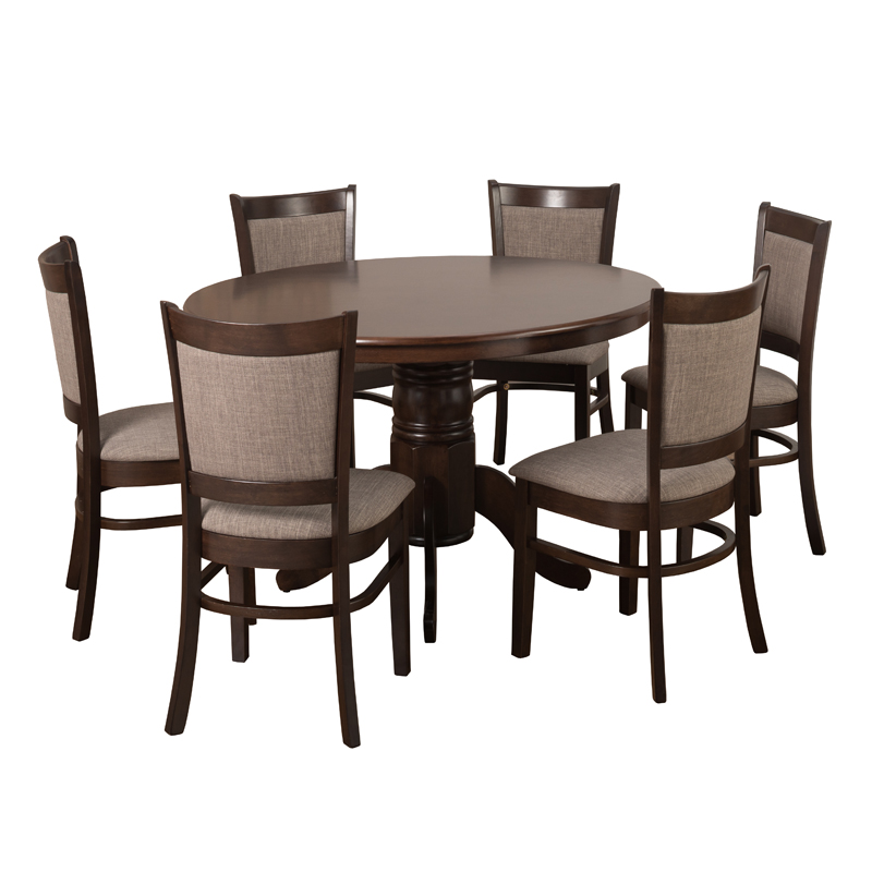 49810234bbf0 OLIVER 120CM DINING TABLE & 6X MANDY DINING CHAIRS