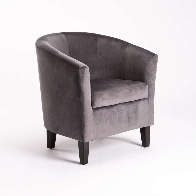 KELLY VELVET TUB ARMCHAIR