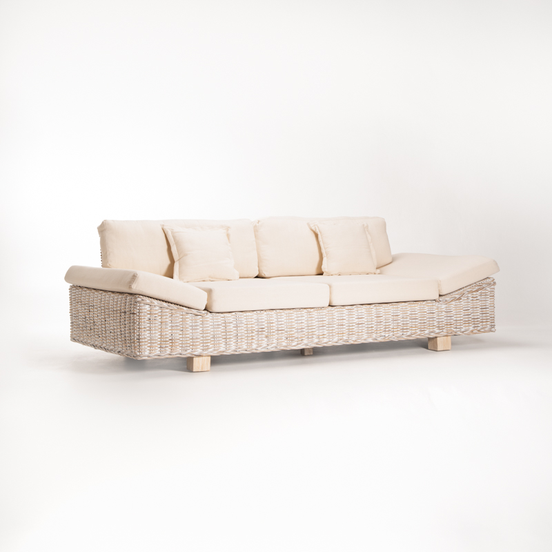 TEGAL KUBU WHITEWASH LUXURY COUCH
