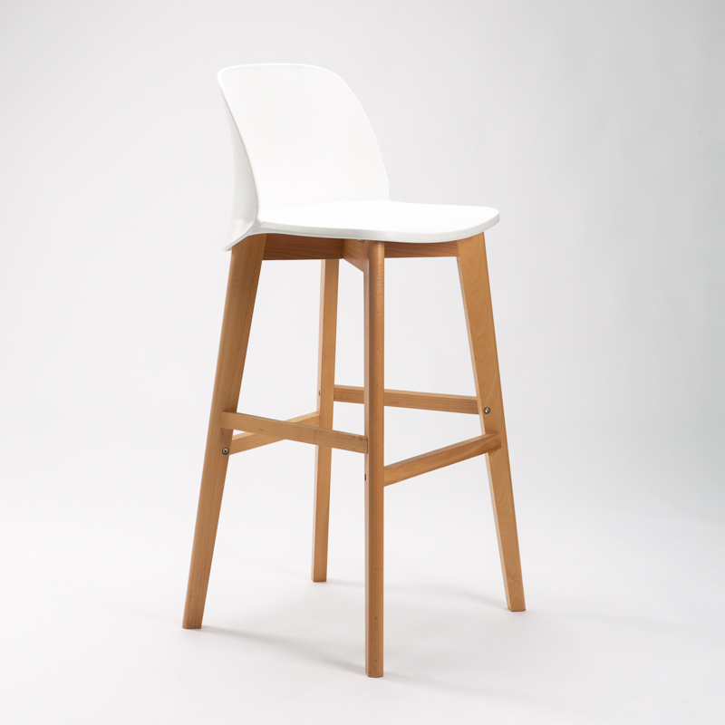 ZEN LUXURY WOODEN LEG BARSTOOL