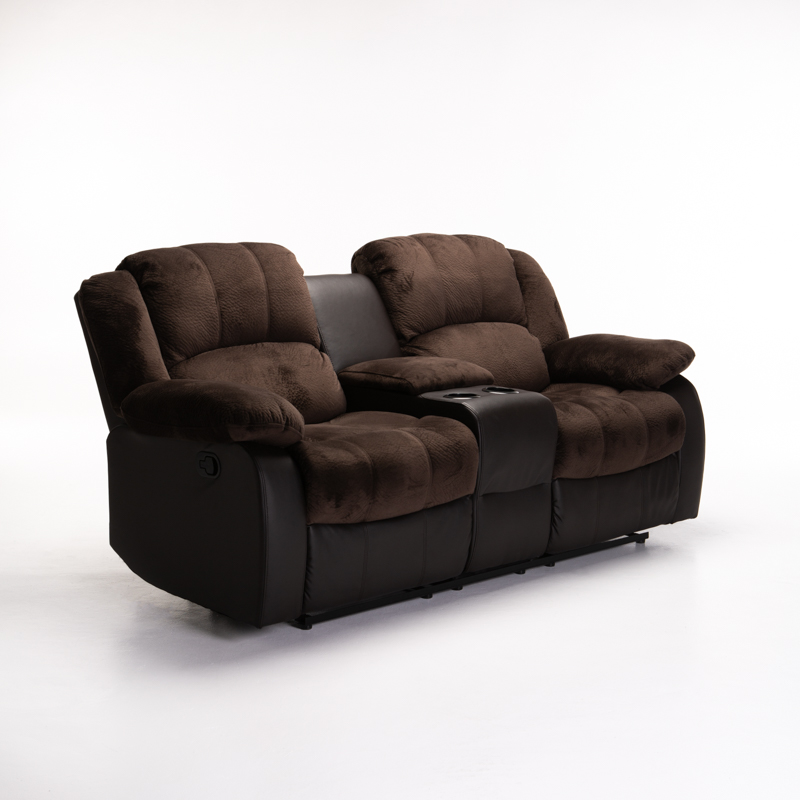 BLAKE LUXURY FABRIC 2 SEATER RECLINER WITH CONSOLE