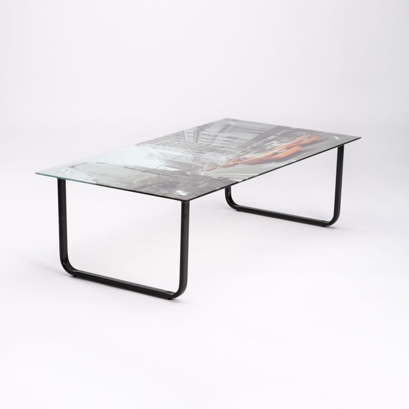 NEW YORK 105x55cm TEMPERED GLASS COFFEE TABLE