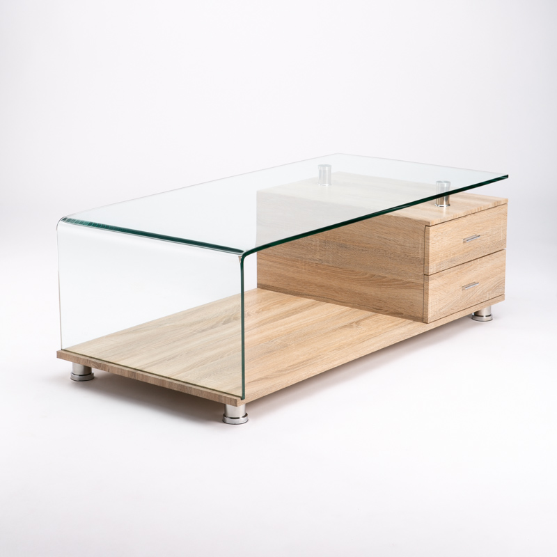 VINE 120x60cm 12MM TEMPERED GLASS COFFEE TABLE