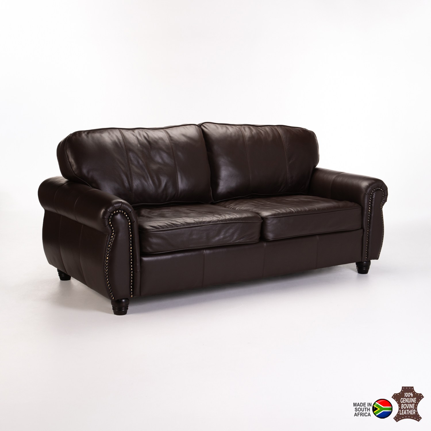 Kingsley Genuine Leather 3 Seater