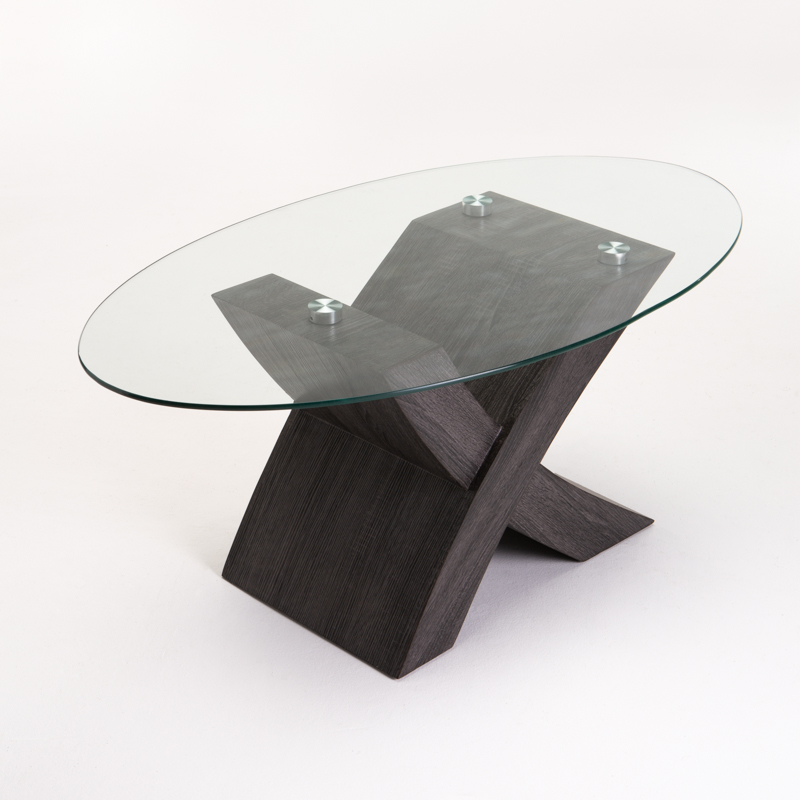 ENYA 110x60cm GLASS TOP COFFEE TABLE
