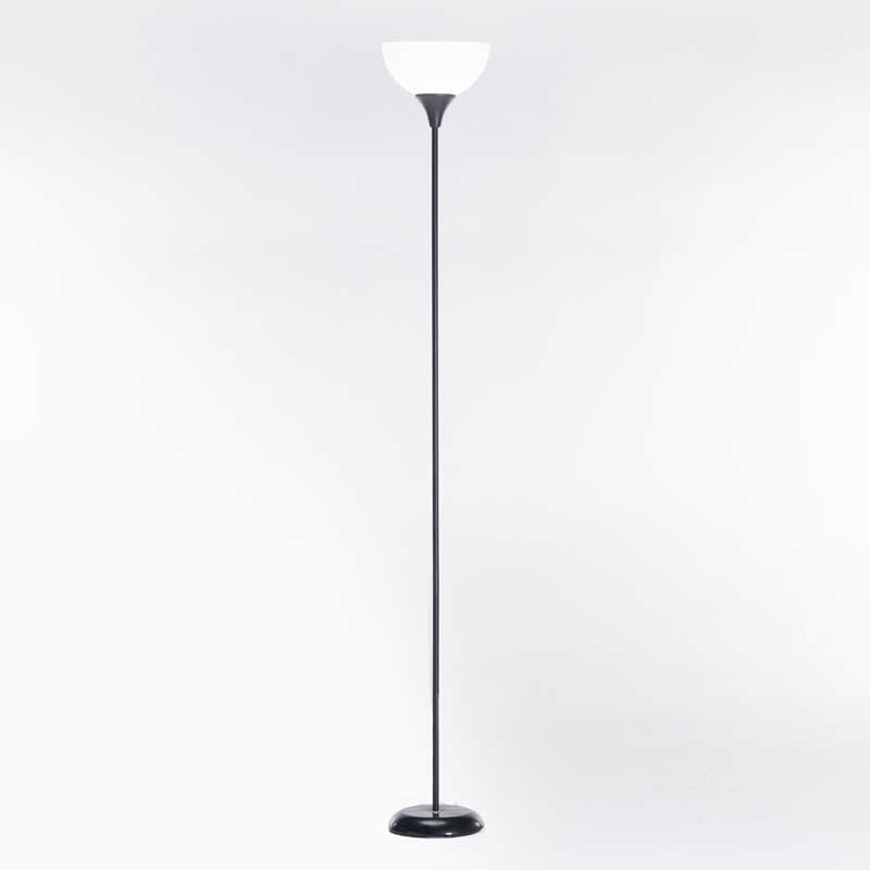 LAMP FLOOR-BLACK METAL-WHITE ACRYLIC SHADE 180cm H