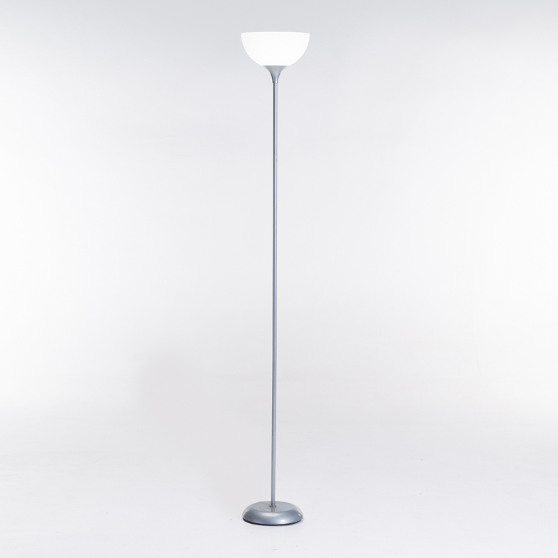LAMP FLOOR-GREY METAL-WHITE ACRYLIC SHADE 180cm