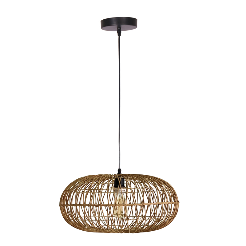 HANGING LIGHT-OVAL RATTAN PENDANT