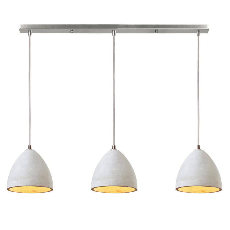 HANGING LIGHT-TRIPLE CONCRETE PENDANT