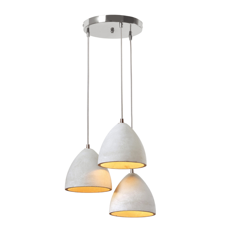 HANGING LIGHT-TRIPLE CONCRETE PENDANT-MULTI LEVEL