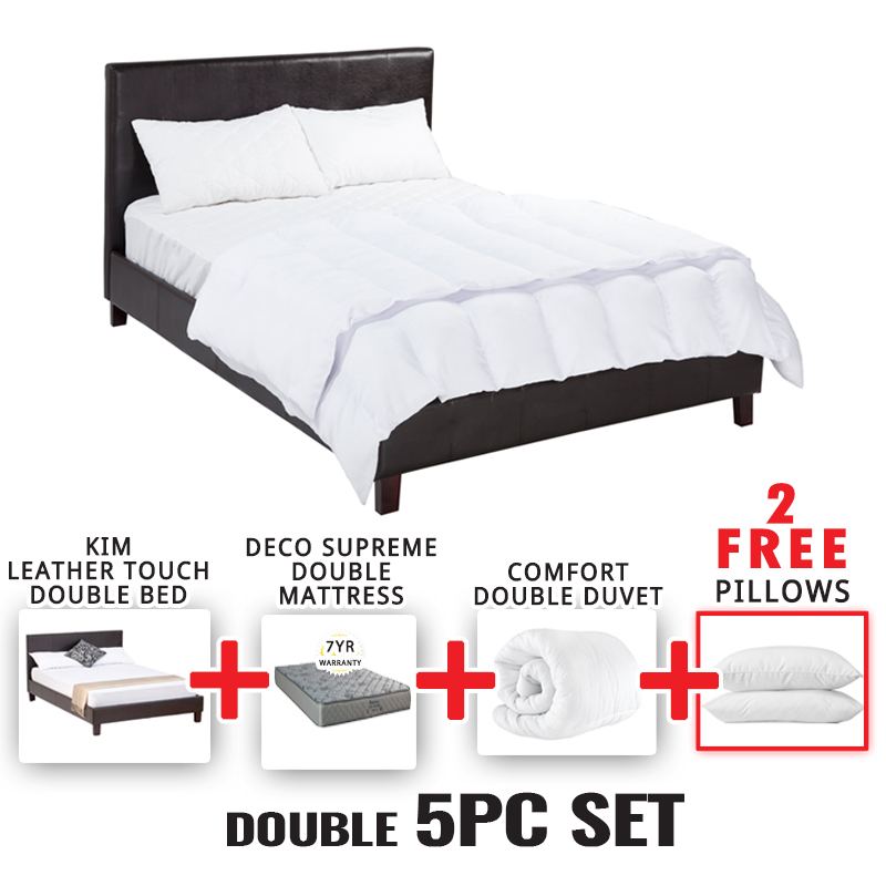 KIM DOUBLE BED 5 PIECE SET