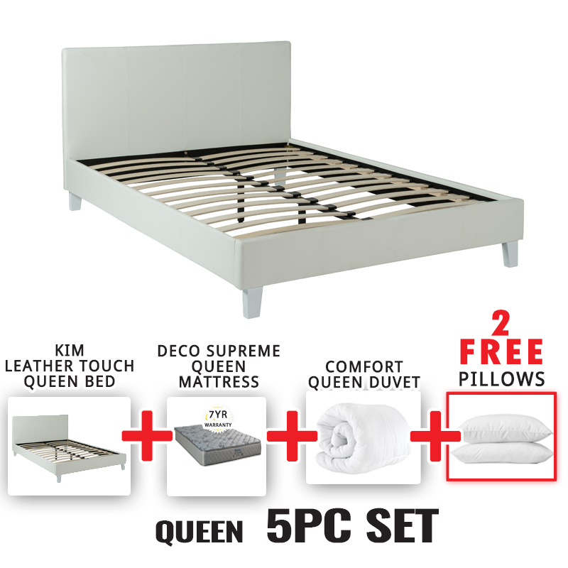 KIM QUEEN BED 5 PIECE SET