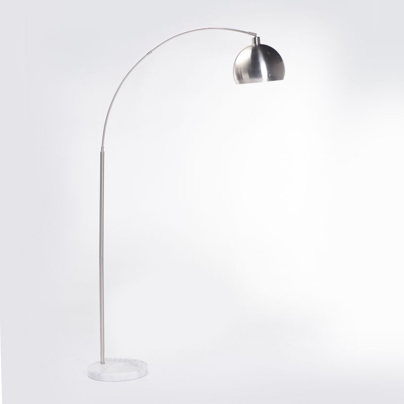 LAMP FLOOR-METAL ARC-METAL DOME 196cm H
