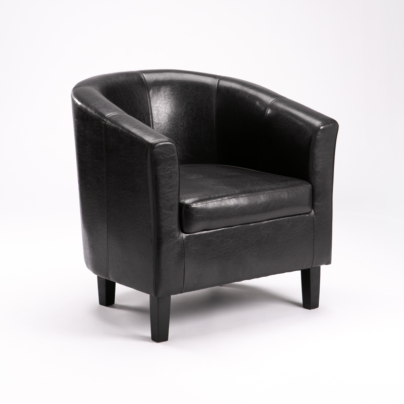AMY LEATHER TOUCH TUB ARMCHAIR