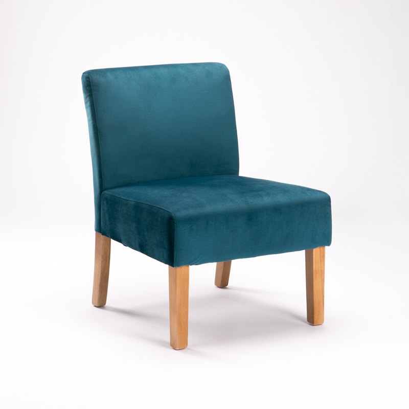 MISSY VELVET FABRIC CHAIR