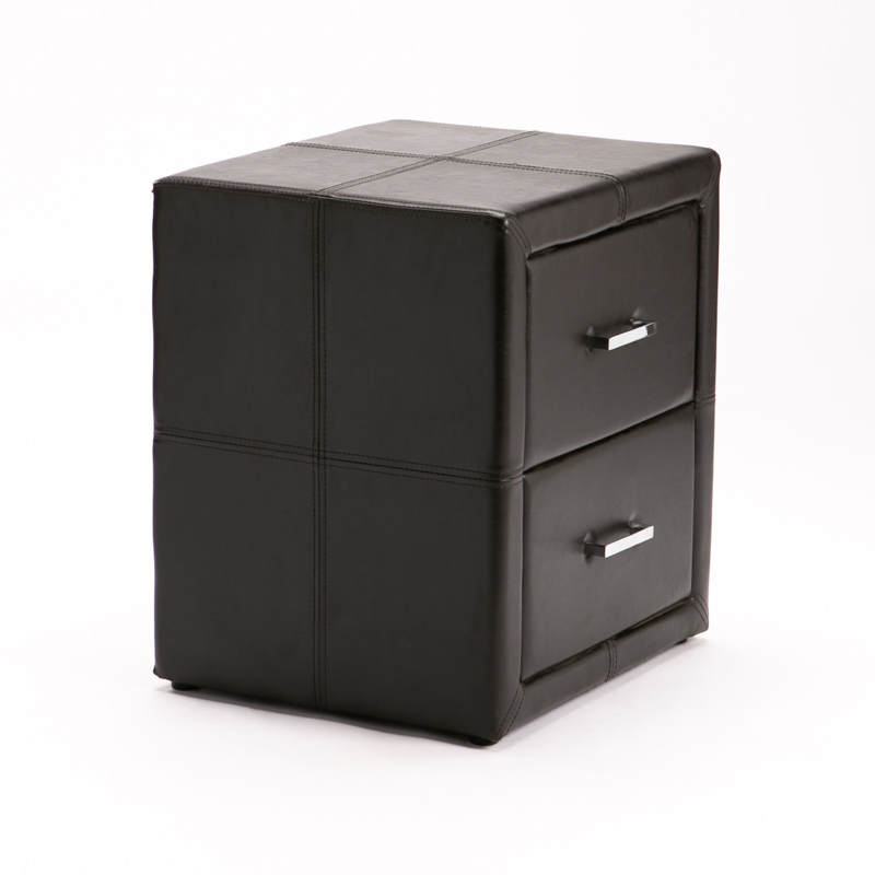 ERIN LEATHER TOUCH 2 DRAWER PEDESTAL