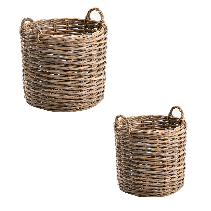 ROUND BASKET SET OF 2 KUBU