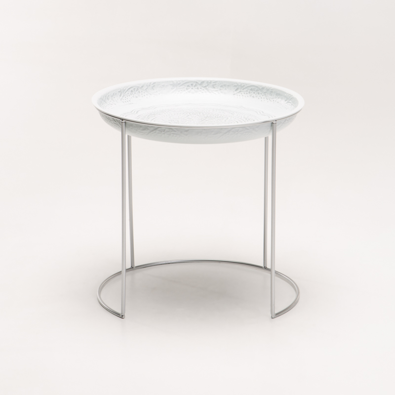 CHI 42cm ROUND METAL SIDE TABLE