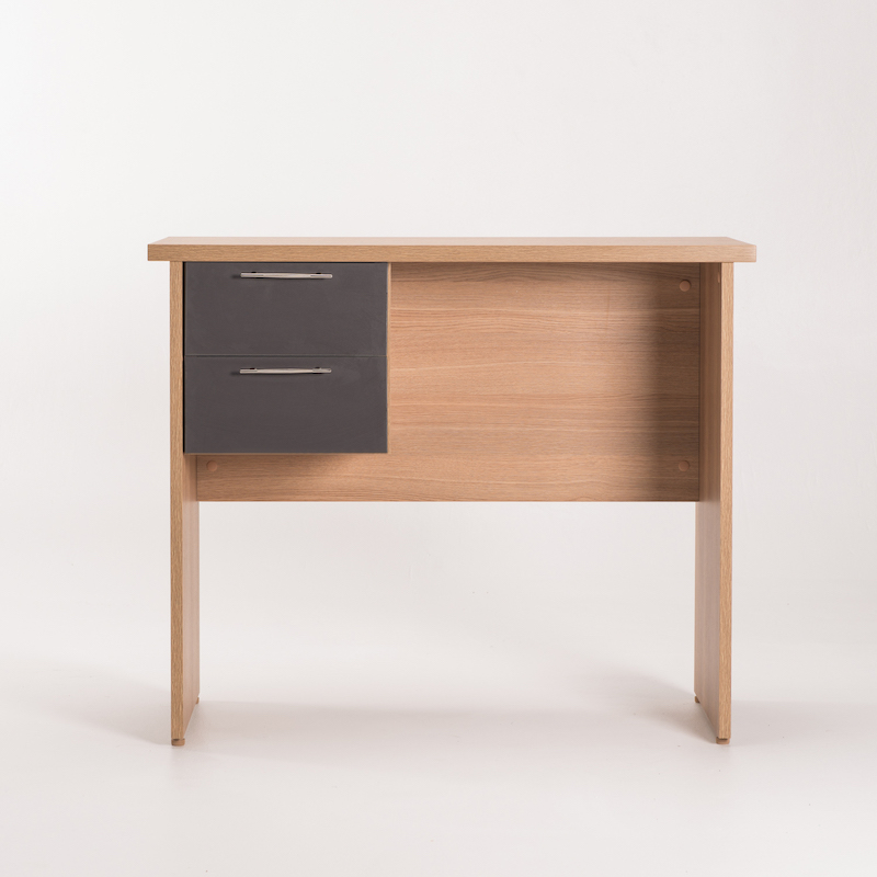 LEGO 90cm SIDE DESK OAK + 2 DRAWER UNIT