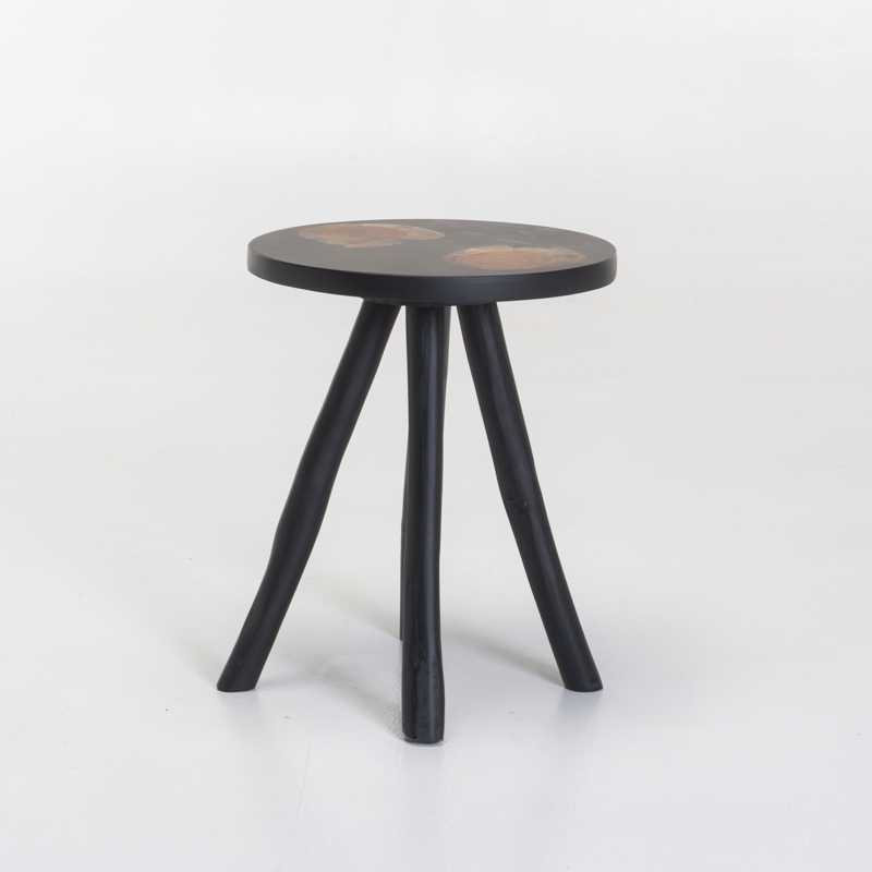 SOLO 35cm TEAK RESIN SIDE TABLE