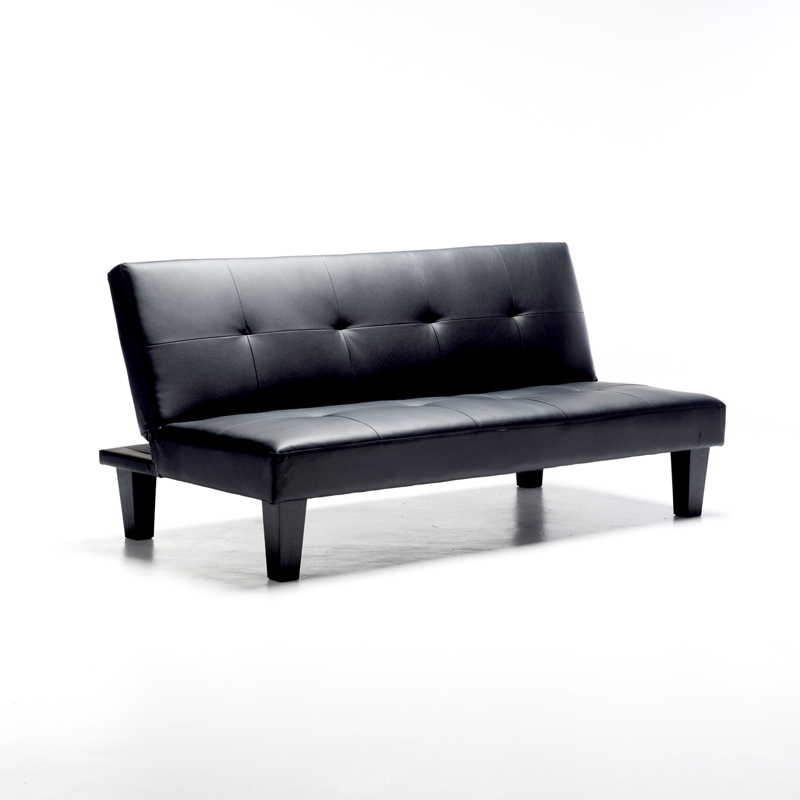 ALLAN LEATHER TOUCH SLEEPER COUCH