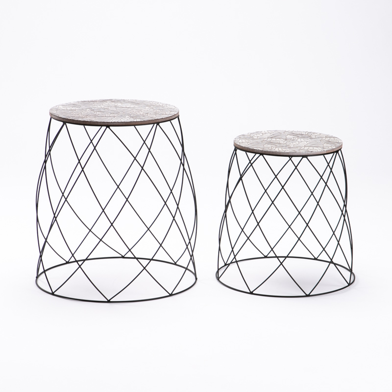 IRIS SET OF 2 TABLES